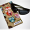 Padded Sunglasses Pouch in Cute Woodland Critters Fabric