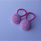 Set of 2 button elastics (19mm) - pink swirl