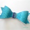 Blue glitter bow headband