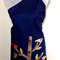 Japanese styled apron – birds in a tree - Navy