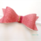 Bubblegum pink glitter bow headband