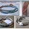 Friends Message DNA wrap bracelet|U choose the leather,4mm beads,& thread colour
