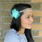 Full Bloom Tieback Ombre Mint hippie wrap head wrap