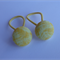 Set of 2 button elastics (19mm) - pale yellow
