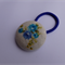 Large button elastic (38mm) - blue flowers with leaves