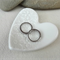 White porcelain heart ring dish, ring holder. Ceramic.