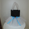 GIRLS TUTU BAG: BLACK WITH WHITE TULLE DESIGN!!