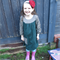Size 5 girl's autumn / winter dress with jumbo cord skirt