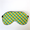 3 Layer Quilted Eye Mask - Lime & Turquoise Hourglass Geo Half Circles.
