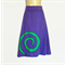 Ladies sizes 8 to 10 avail - Retro Purple Stretch A Line Skirt, spiral applique