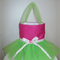 GIRLS TUTU BAG: PINK WITH GREEN TULLE!!
