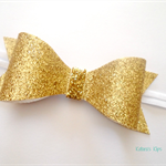 Gold glitter bow headband