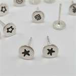 Tiny Solid Star Studs: