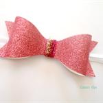 Bubblegum Pink Glitter Bow Headband