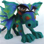 Infinity needle felted wool dragon. Children's home décor