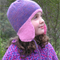 Girls Hand Knitted Aviator Ear Flap Hat - Sizes 1-3, 4-6, 7-10 years - Pure Wool