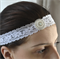 Lace Crystal and Pearl Headband, Swarovski Pearl Headpiece, Boho Lace Headband