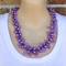 Purple Wings Crochet Wire Beaded Handmade OOAK Necklace by Top Shelf