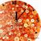 Tick Tock - Orange Sunshine Buttons Resin clock - silent motion