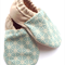 Blue Geometric Baby Shoes