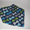 Adjustable Baby Bandana Bib with Bamboo Fleece - Bows on Navy - Soft Absorbent