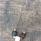 *New Colours* Geometric Wooden Beads Necklace - Black and Salmon