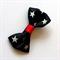 Handmade Black Bow Hair Clip - ribbon, alligator clip, star, rockabilly, retro