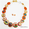 Oranges and Cream - Buttons Necklace  - Jewellery - Bonus Earrings