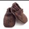 Brown Tweed Baby Shoes