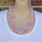 Pinks Clear Crochet Wire Beaded Handmade OOAK Necklace by Top Shelf