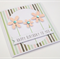 Handmade Birthday Card - Happy Birthday to you - Sky Pale Pink Glitter Flowers