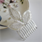 Silver Leaf Bridal Hair Comb, Wedding Hair Comb, Beaded Wedding Hairpiece