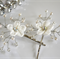 Pearl and Crystal Silk Flower Wedding Hairpiece, Bridal Hair Pin