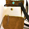 Small Cross Body, Upcycled, Retro, Pig Skin & Leather Purse