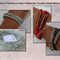 Womens Message DNA wrap bracelet|U choose the leather,4mm beads,& thread colour