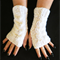 Knitted Fingerless Gloves Gloves, Cable Knit Chunky Arm Warmers Fingerless Mitts