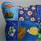Blue Patchwork Pillow Cover - Boys/Toddler I-Spy Patchwork 16 x 16 Pillow Cover