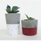 Concrete Upright Tealight Candle Holder / Succulent Planter - Urban Decor