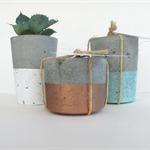 Trio - Three Concrete Tealight Candle Holders - Urban Decor