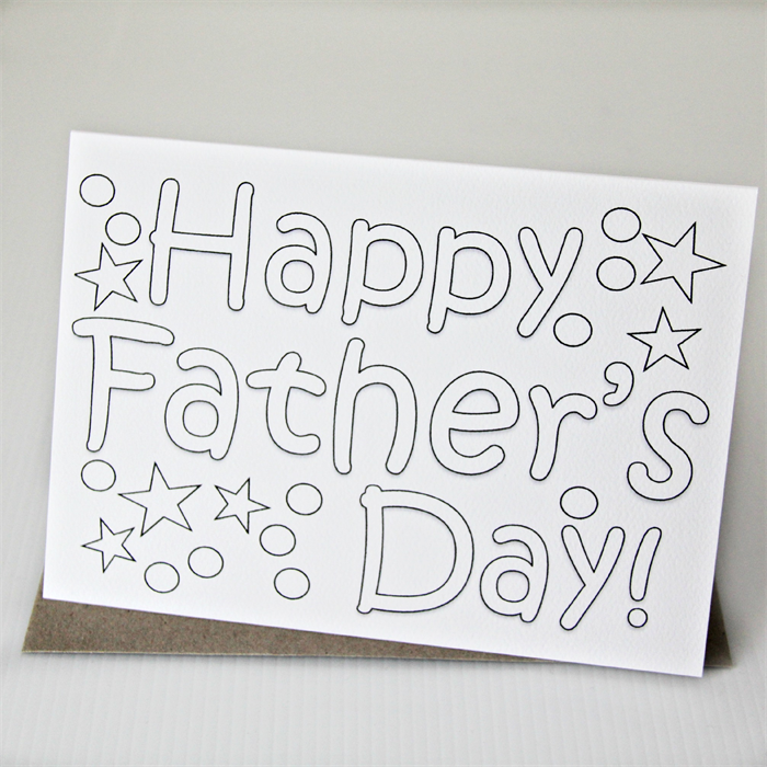 Father's Day colour in card Happy Fathers Day Dad Grandad ...