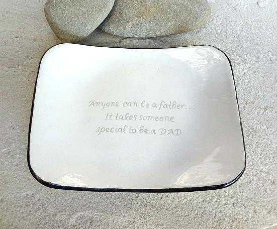 Fathers Day Birthday Gift Porcelain Dish Coin Key Holder Soap Ceramic