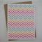 Sherbet Chevron - Blank Greeting Card & Envelope