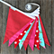 Red, Pink and Aqua Bunting