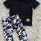 Boys Camo Grey & Black lounge Pants Set