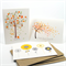 Card Pack - Blank, Sympathy, Thank You - Set of 3 Cards - CP3004 - Tree, Flowers