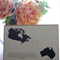 Canada-Australia Long distance relationship/Miss you/Across the miles Card