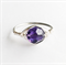 Silver wire wrap ring, Swarovski crystal ring, amethyst crystal ring