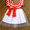 Girls red chevron, party dress, size 1, XMAS party dress