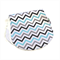 Bamboo Contoured Bamboo Burp , Blue Black and Grey Chevron