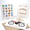 Happy Birthday Card Pack Male - Set of 3 Cards - CP3001 - Moustaches, Motorbike